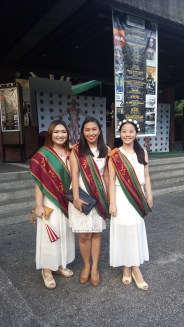 My friends and I during the ceremony!