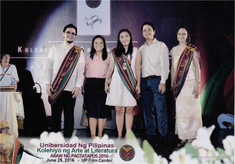 The graduation ceremony! (Those tiny medals? Yes, I graduated cum laude hehe)