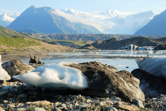 Alaska Gletsjer, gletsjermeer
