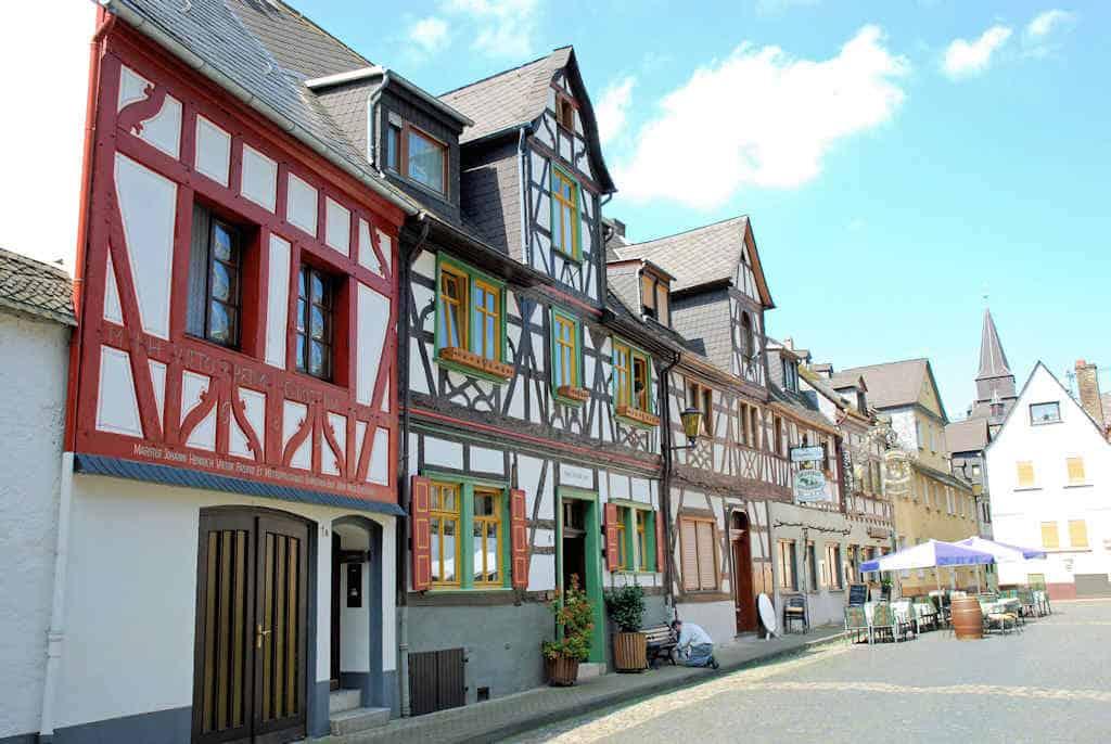 Braubach am Rhein stadje aan Rijnoever
