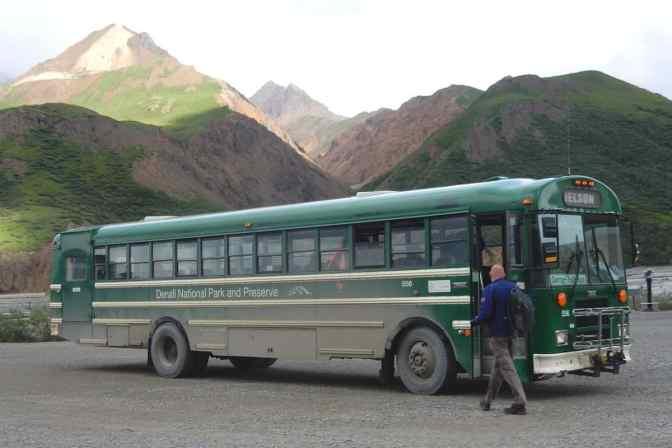 Denali National Park, Alaska, groene busdienst