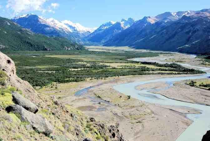 Los Glaciares National Park, El Chalten, Rivier de la Vueltas, Argentinie