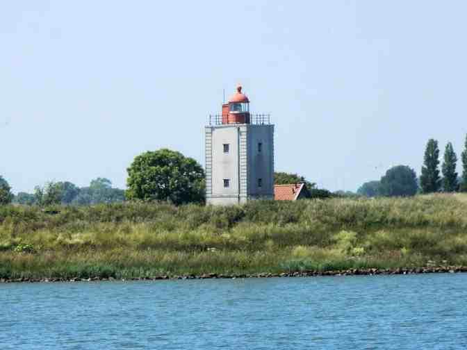 Vuurtoren vanaf boot De Friesland gezien