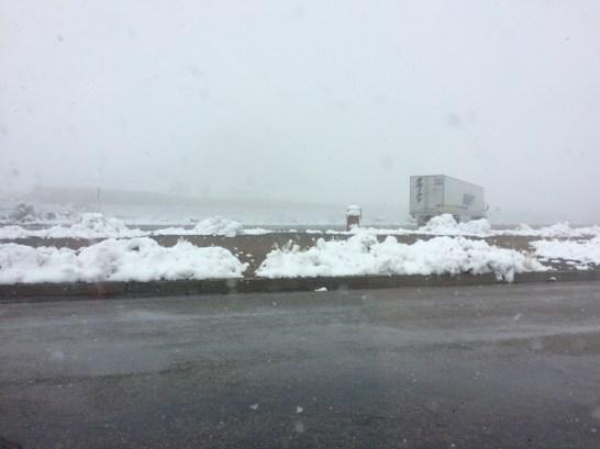 Schnee auf der 50