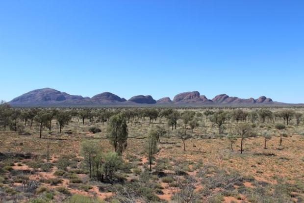 Felsmormation australische Wüste