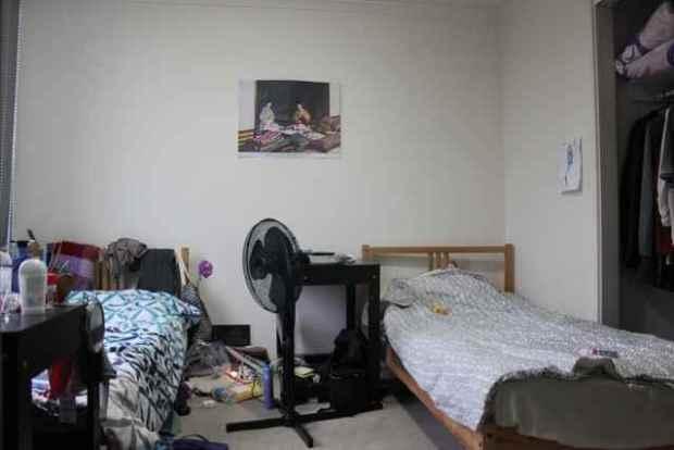 Hier siehst du ein australisches Hostel Zimmer