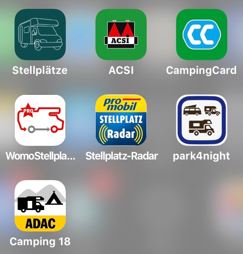 Stellplatz Apps