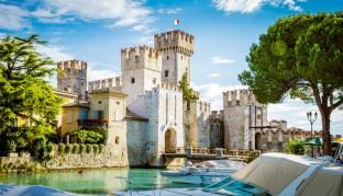 Festung Rocca Scaligera in Sirmione am Gardasee