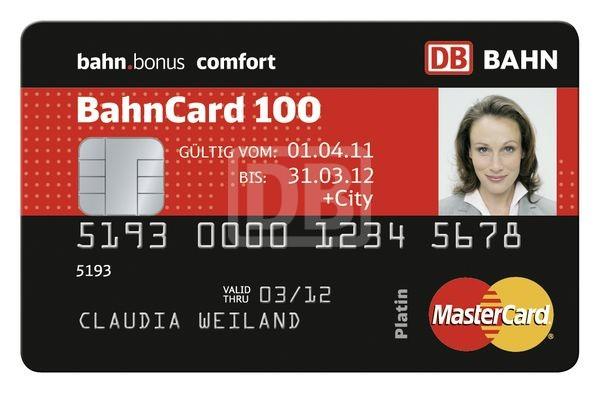 BahnCard 100 mit Kreditkarte