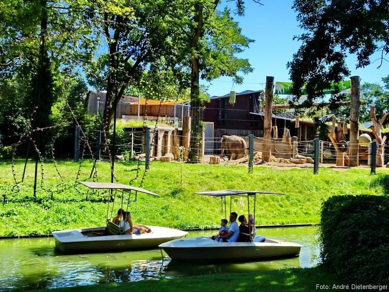 Karlsruhe - Stadtgarten Zoo Elefantenanlage