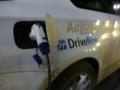 DriveNow ActiveE Berlin Ladestecker und Schriftzug
