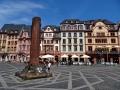 Marktplatz mit Heunensäule