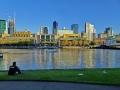 Melbourne Skyline and Yara River