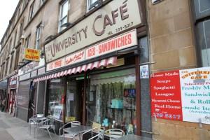 Das University Café im Szeneviertel von Glasgow, dem West End. Italien pur mitten in Schottland.
