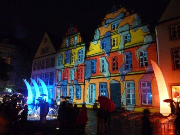 Bunte Häuser am Alten Markt Bielefeld