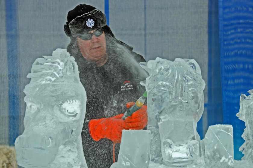 Ice Carver bei den Winterludes in Ottawa