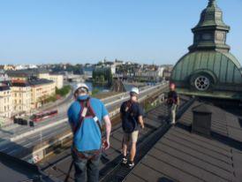 Auf dem Dach unterwegs