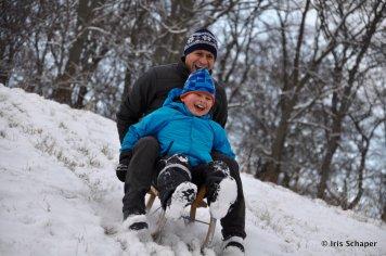 Solling zwei Männer im Schnee