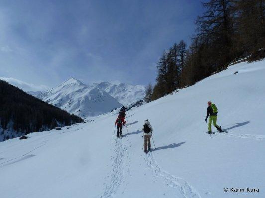 Vinschgau. Schneeschuhwandern Rojental5. Kura