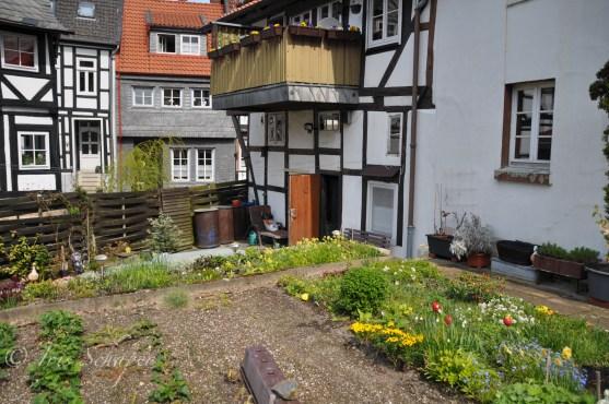 Bauerngarten im Hinterhof Goslar