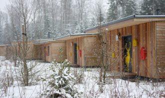 Kleine Hütten in kurzen Reihen - von den Nachbarn haben wir aber nix gehört
