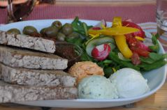 Essen im Café der Schlossgärtnerei Willigrad