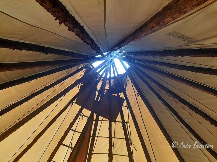 Rauchabzug im Lavvo-Dach