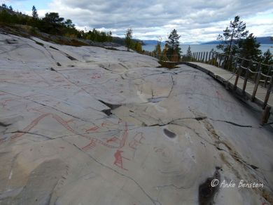 Reisefeder Finnmark Alta Felszeichnungen Benstem 6