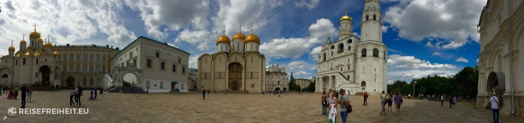 Panorama der Kirchen im Kreml
