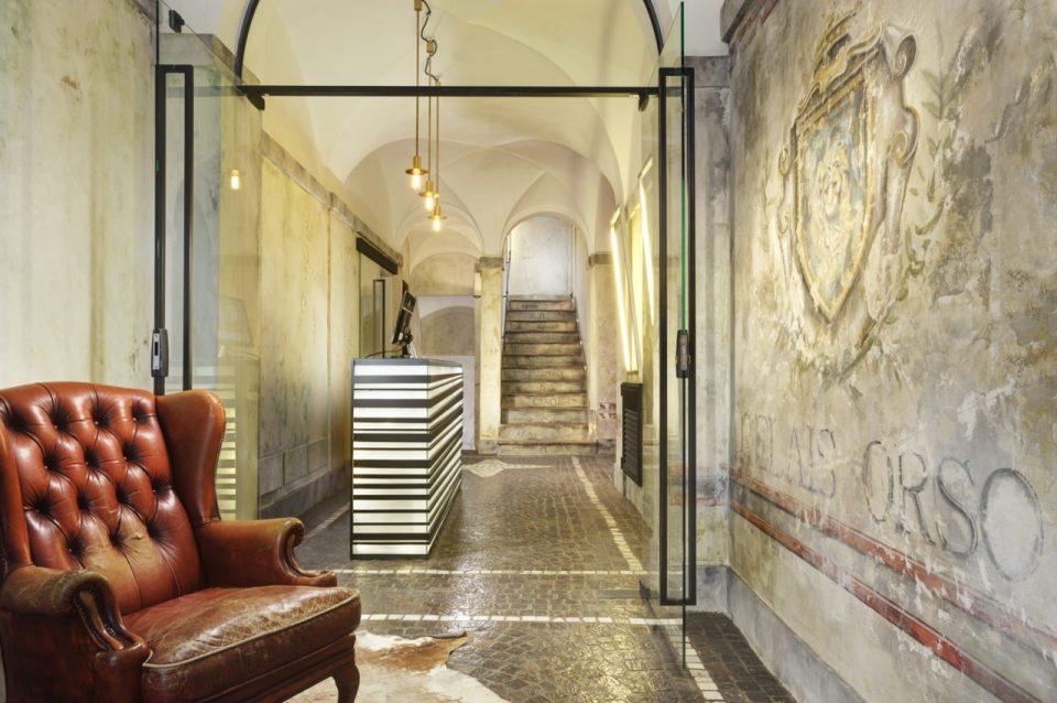 Inngangssparti Hotel Relais Orso i Roma