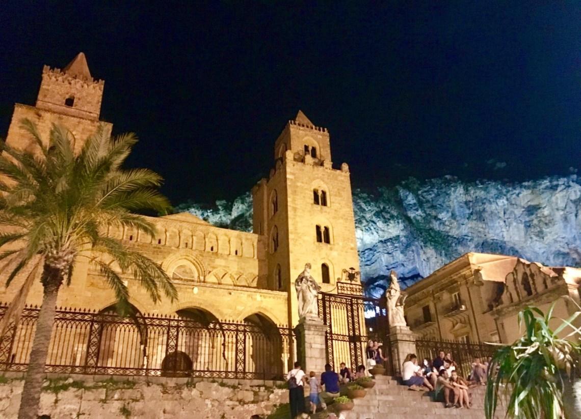Slottet i Cefalú på Sicilia