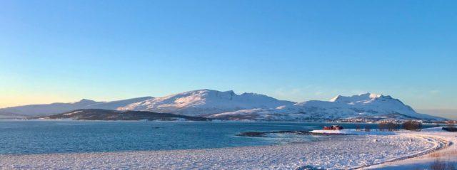 Utsikt fra Langnes lufthavn vinter