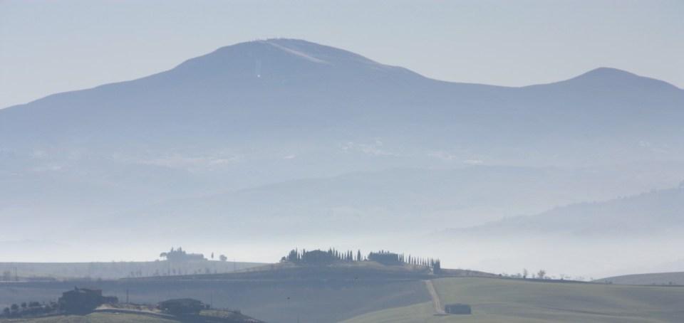 Toscanske åser om vinteren