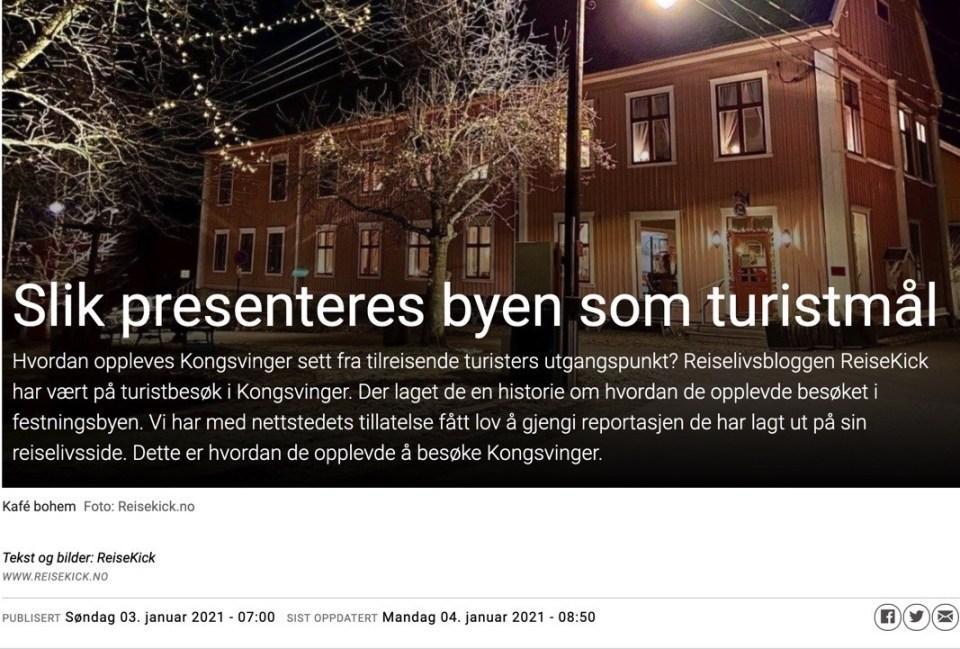 ReiseKick i Media Mitt Kongsvinger
