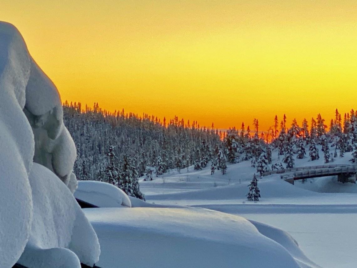 Vinterlandskap Norefjell soloppgang