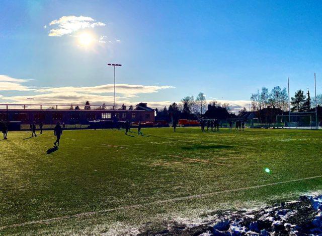 Fotball på Voldsløkka vinter
