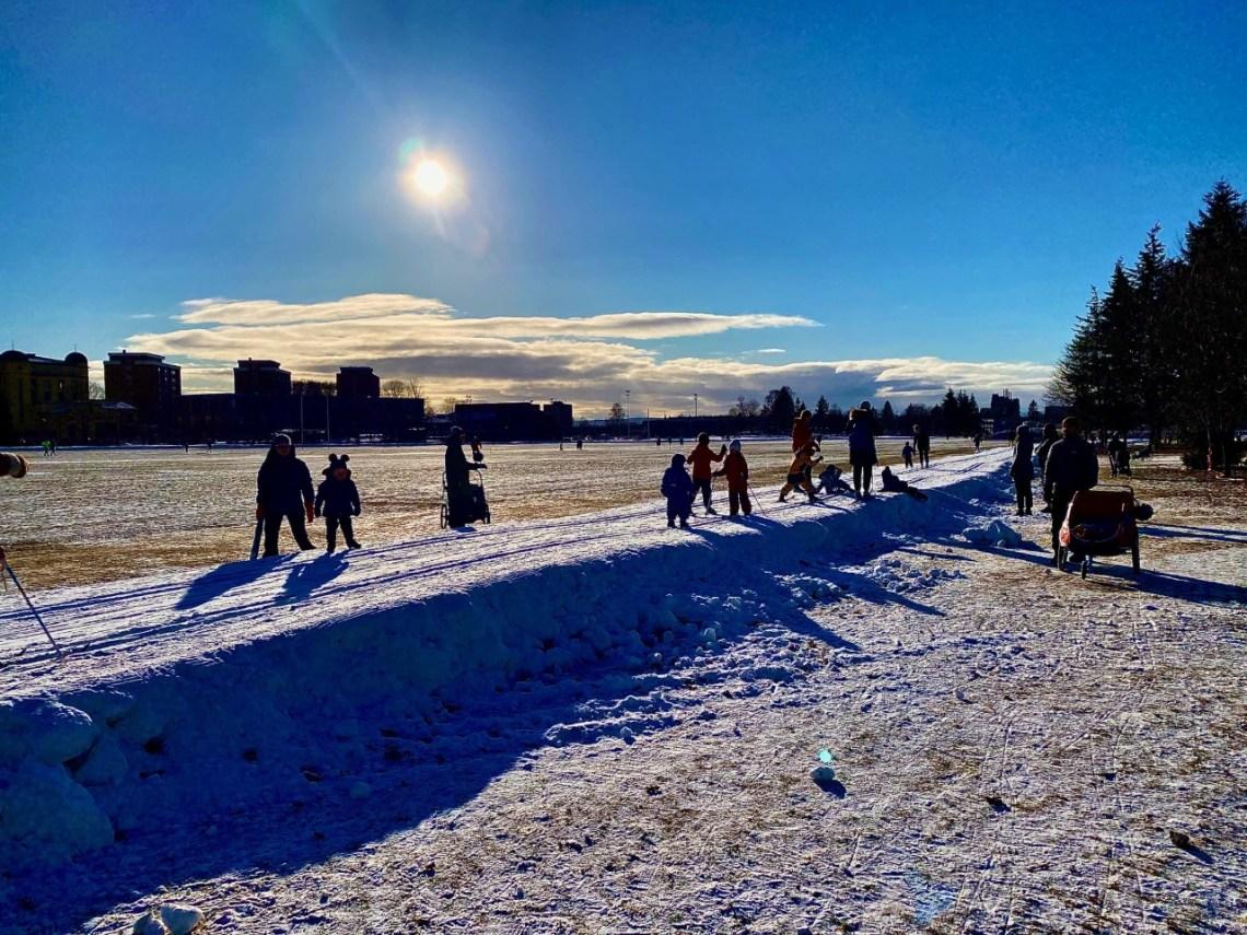 Skiløyper på Voldsløkka i Oslo