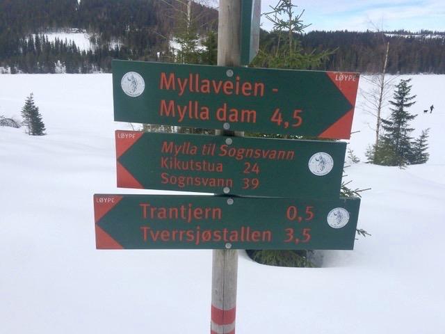 Nordmarka skilt Mylla