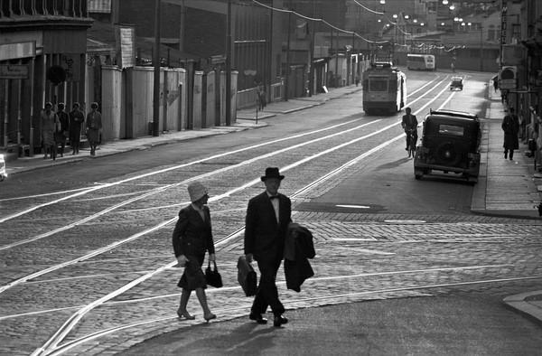 Trikkeskinner gamle bilder fra Oslo