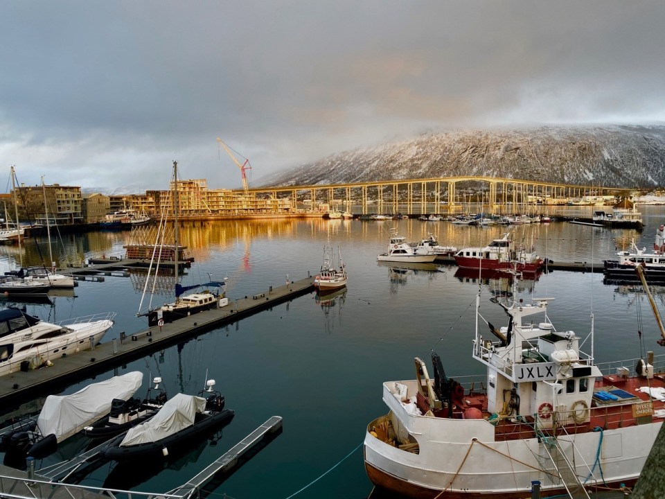 Tromsø utsikt over havna