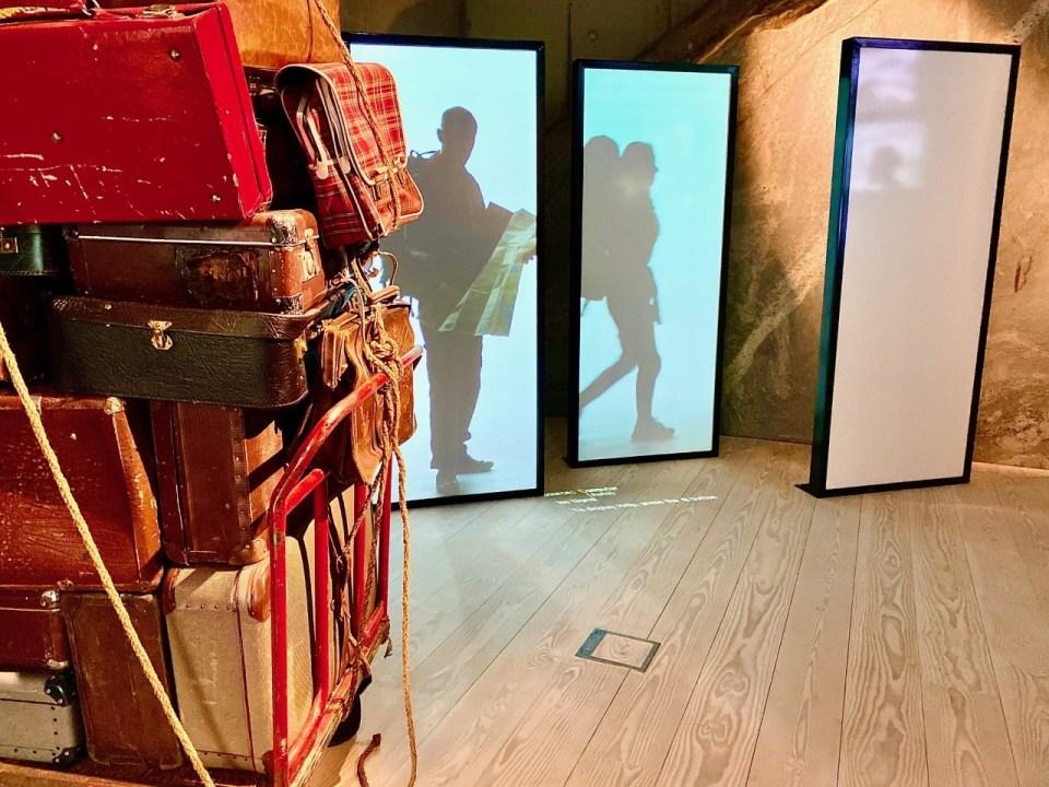 Kofferter på reiselivsmuseet i Balestrand