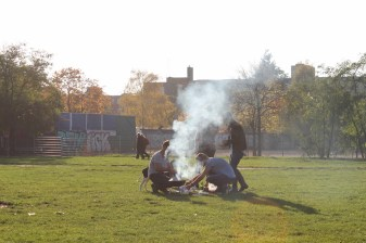 Mauerpark, die letzten Sonnenstrahlen im November