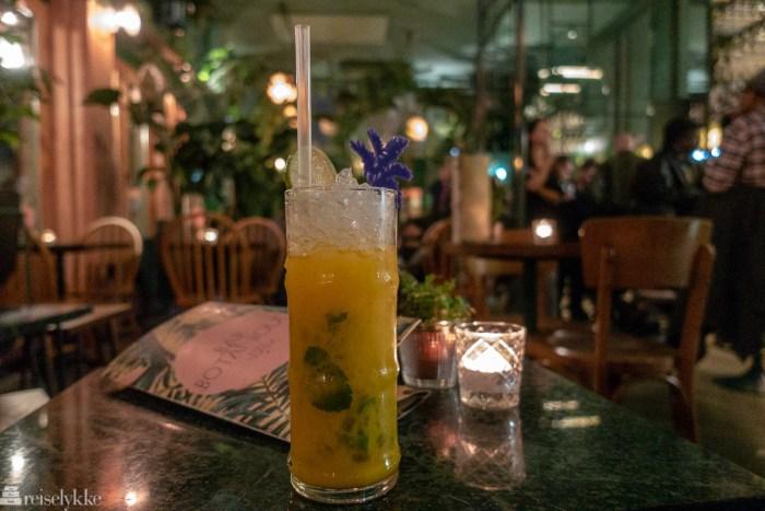Mango Mojito servert på Bar Botanique i Oost