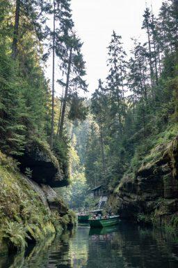 Båttur i Bohemian Switzerland