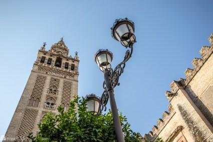 Gatelampe i Sevilla