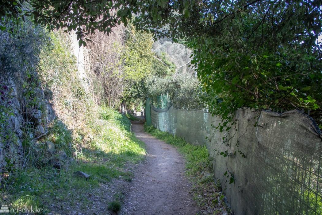 Tursti mellom Levanto og Monterosso