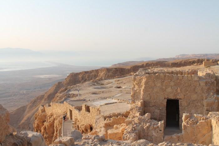 Ruiner på fjelltoppen Masada
