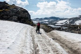 Snø langs Rallarvegen