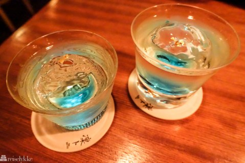 Drinker på Bar Rinto i Kyoto