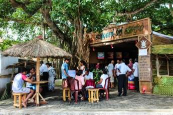 Lokal café i Galle, Sri Lanka
